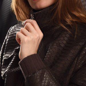 Куртка зі шкіри пітона