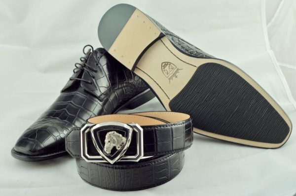 Туфлі чоловічі, шкіра пітона