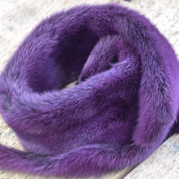 Хутро норки, фіолетове
