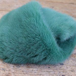 Хутро норки, зелене